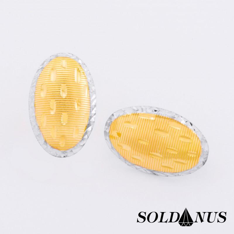 Zlaté náušnice dvojfarebné