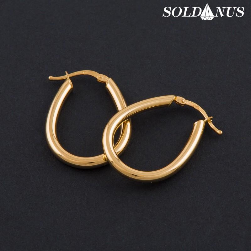 Zlaté náušnice kruhové