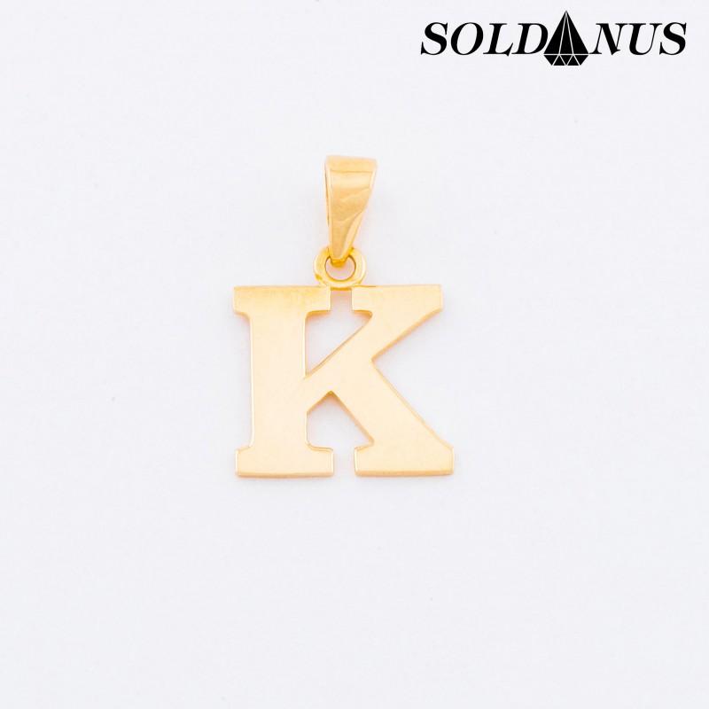 Zlatý prívesok písmeno K