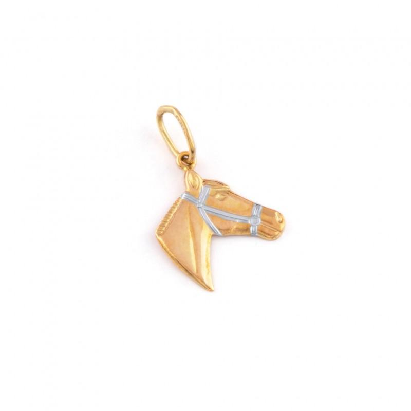 Zlatý prívesok koňská hlava