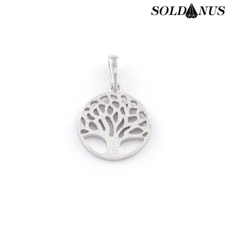 Zlatý prívesok strom života z bieleho zlata