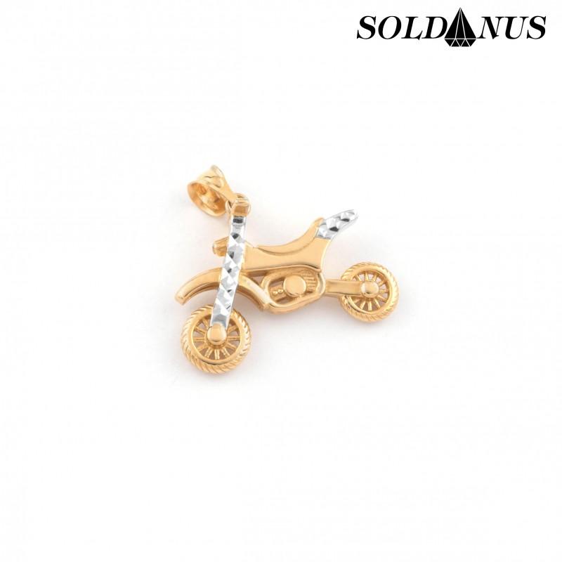 Zlatý prívesok kros motorka