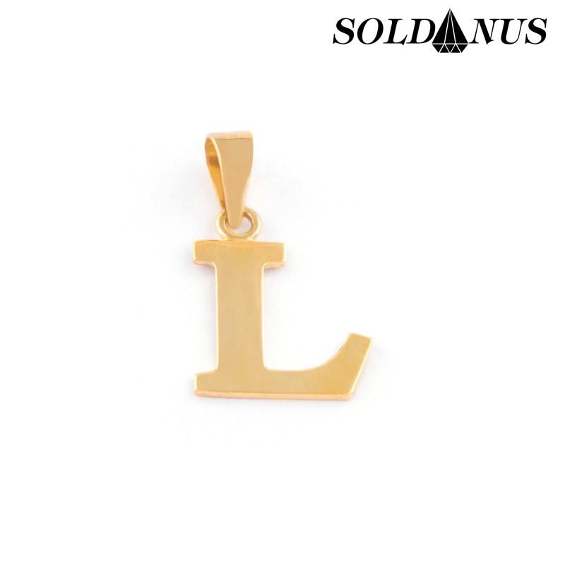 Zlatý prívesok písmeno L