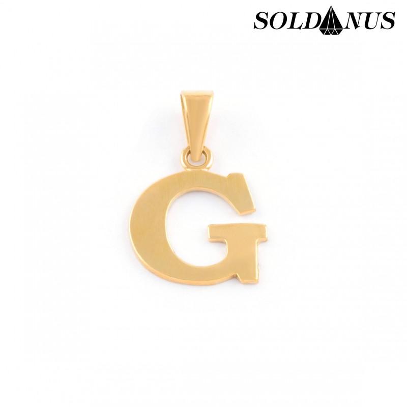 Zlatý prívesok písmeno O