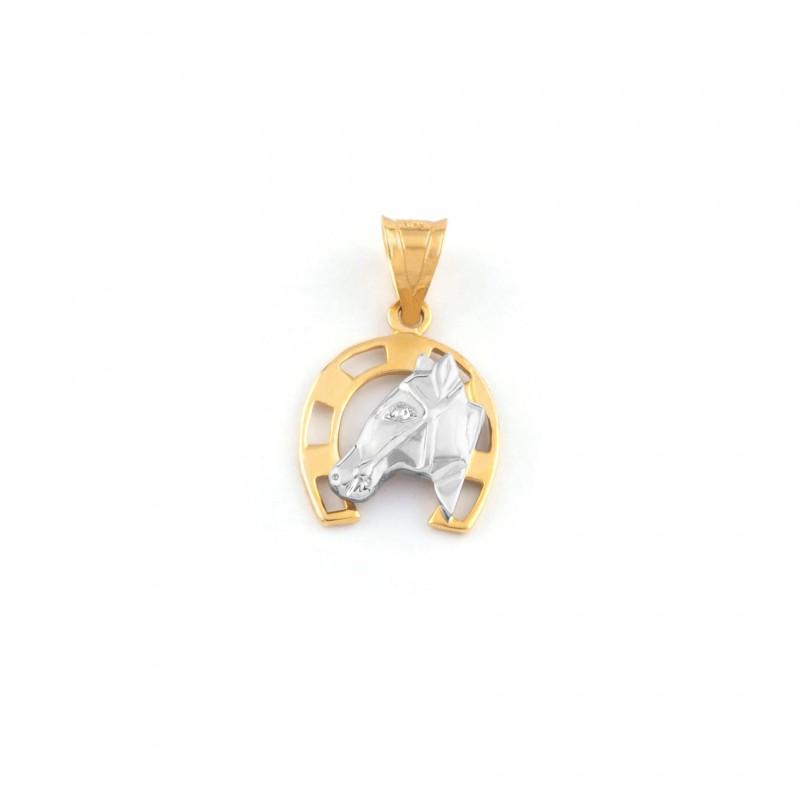 Zlatý prívesok koňská podkova pre šťastie