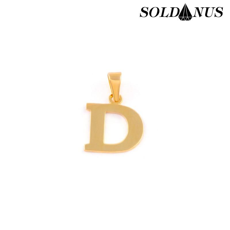 Zlatý prívesok písmeno D