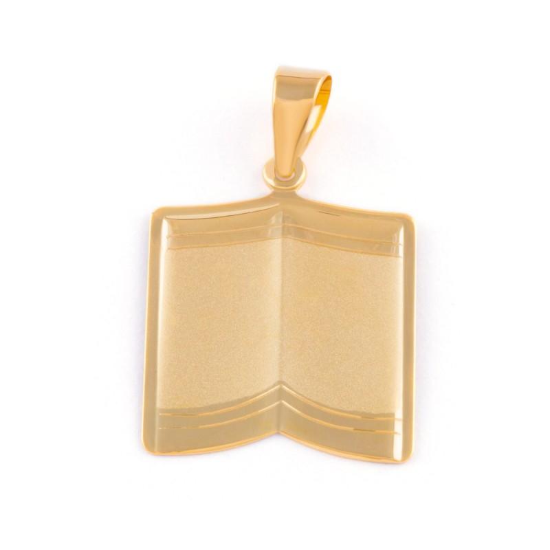 Zlatý prívesok knižka