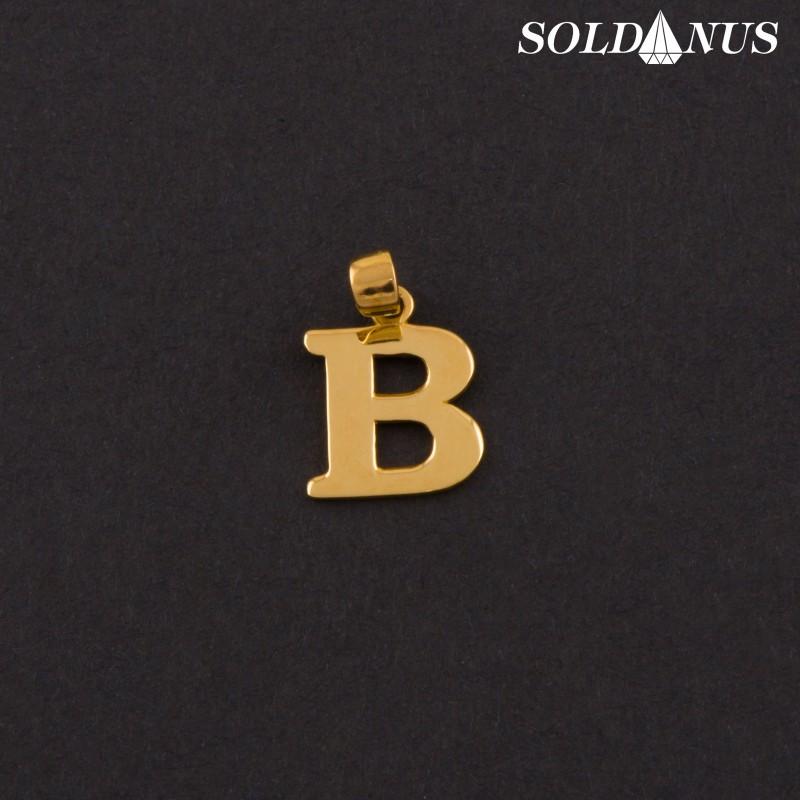 Zlatý prívesok písmeno B