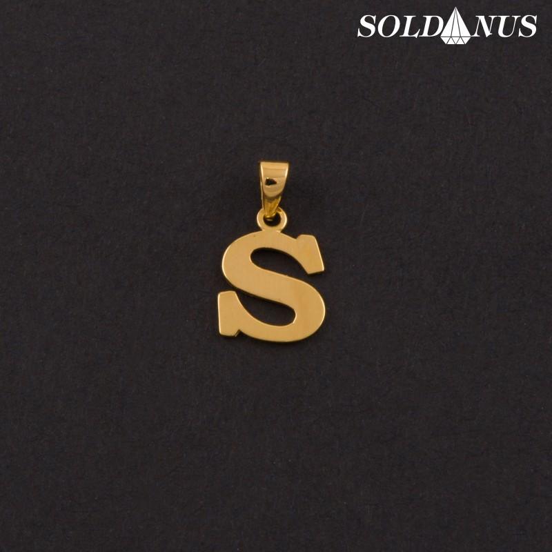Zlatý prívesok písmeno S