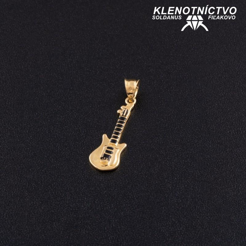 Zlatý prívesok gitara