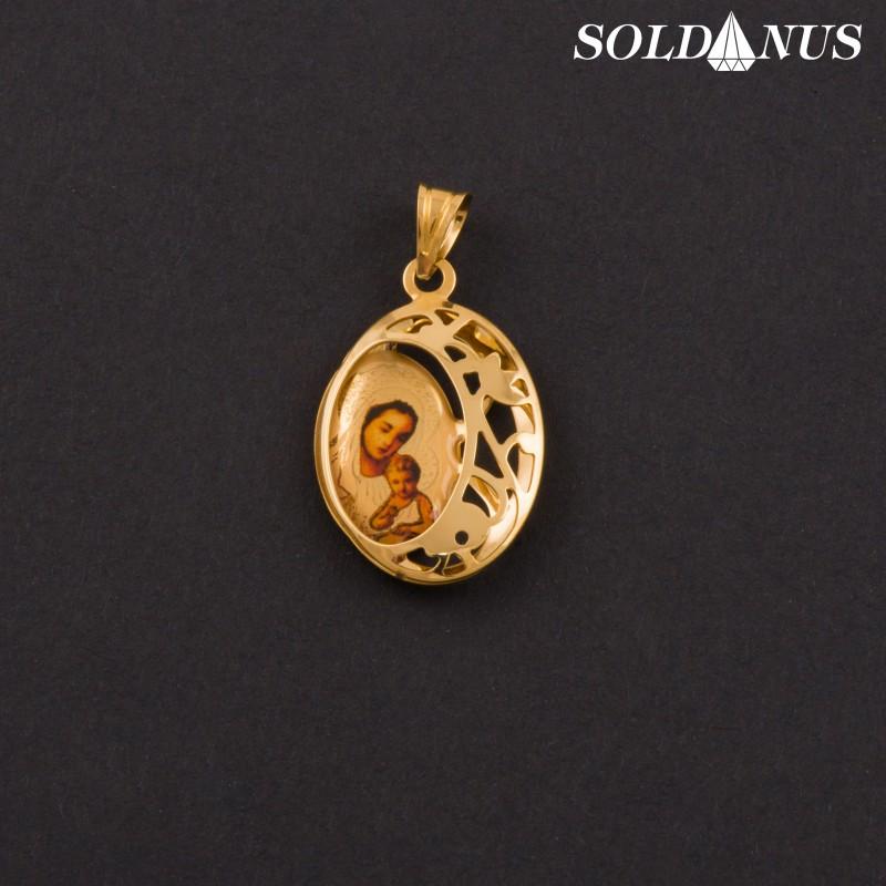 Zlatý prívesok Panna Mária s Ježiškom