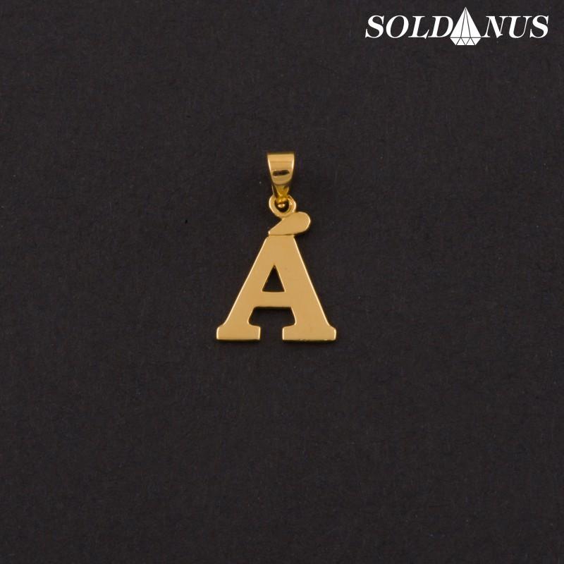 Zlatý prívesok písmeno A