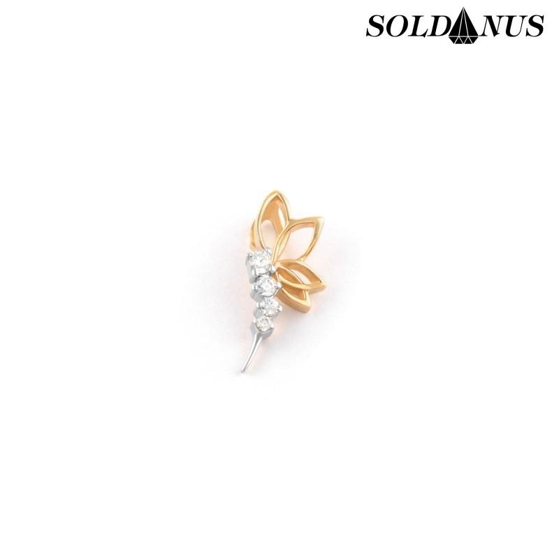 Zlatý prívesok vážka vykladaná zirkónmi