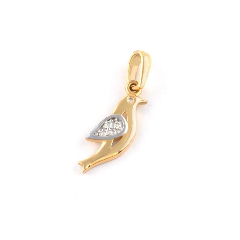 Zlatý prívesok holub