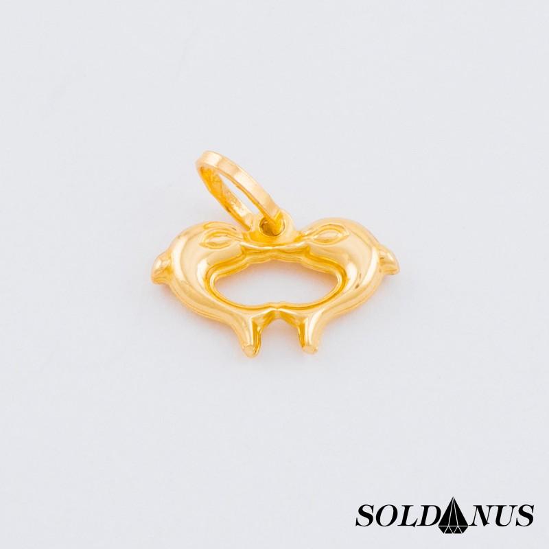 Zlatý prívesok delfíny