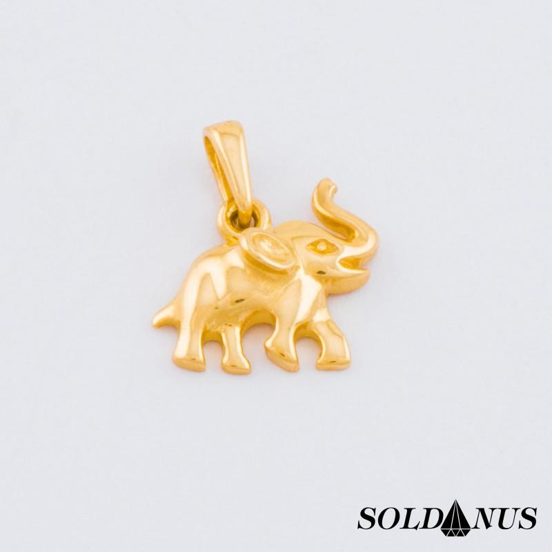 Zlatý prívesok sloník