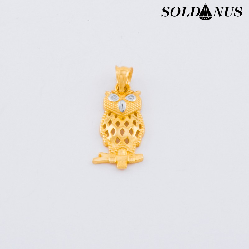 Zlatý prívesok sova