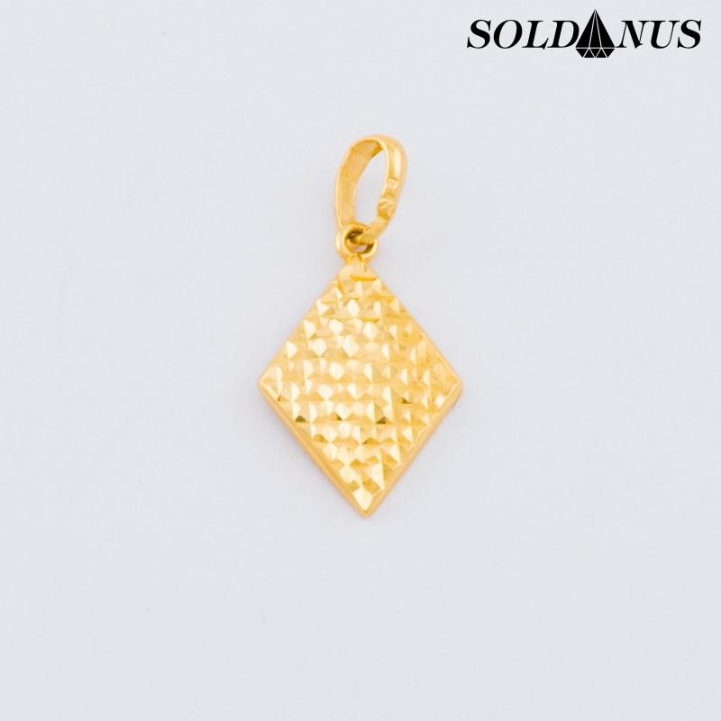 Zlatý prívesok tvar kosoštvorec