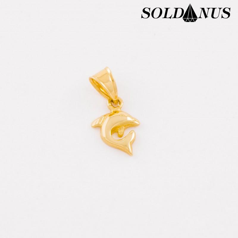 Zlatý prívesok Delfín