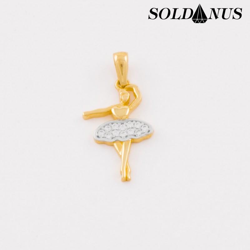 Zlatý prívesok Baletka