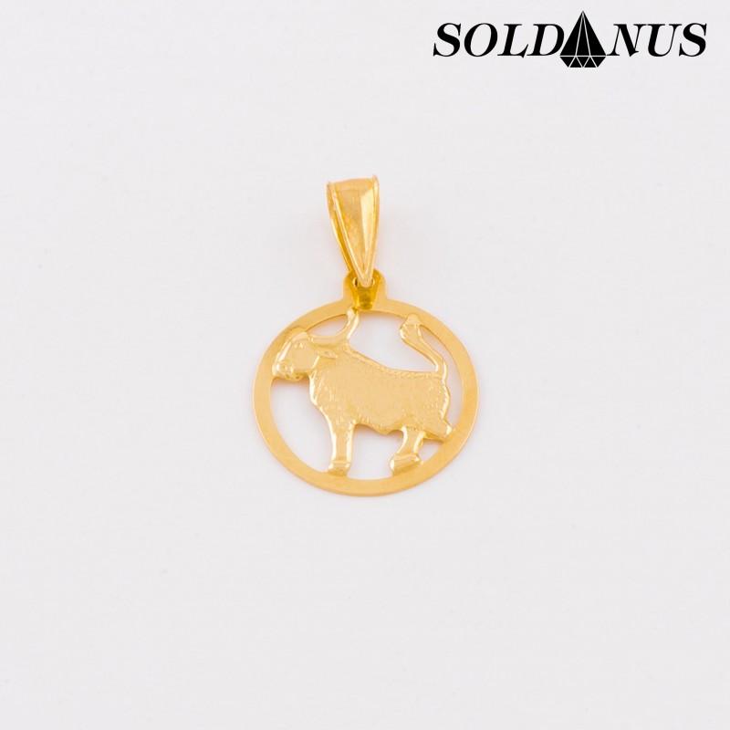 Zlatý prívesok znamenie Býk