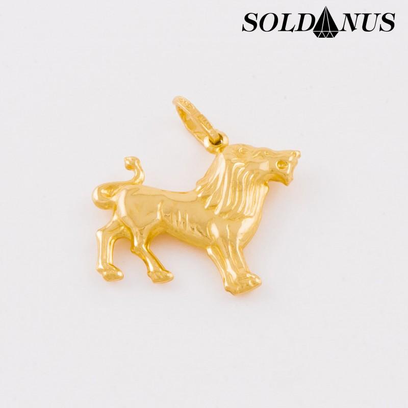 Zlatý prívesok znamenie Lev