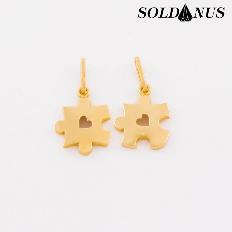 Zlatý prívesok pre dvoch Puzzle