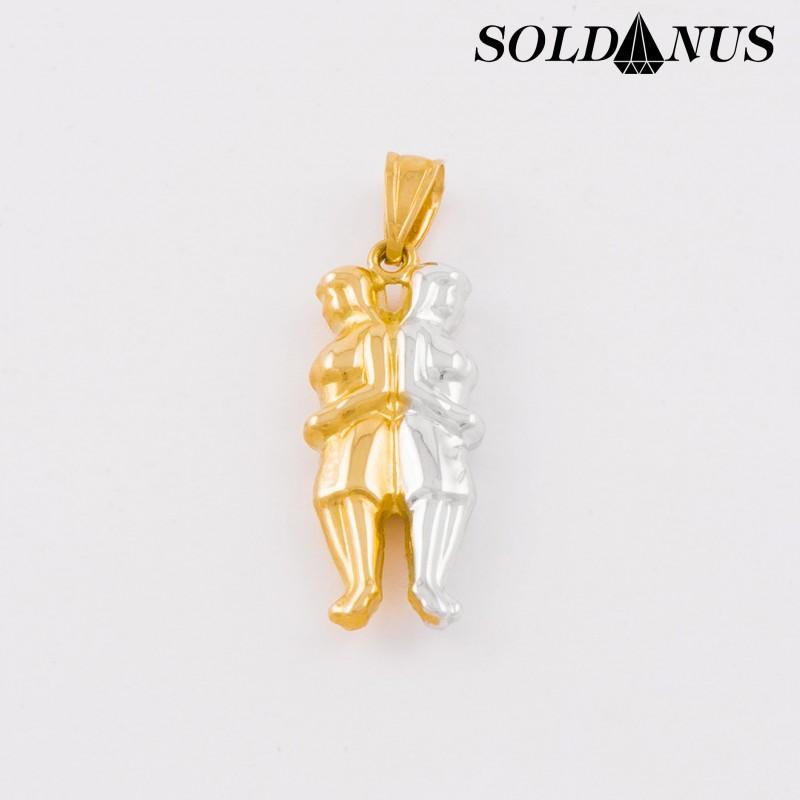 Zlatý prívesok dvojfarebný znamenie blíženci