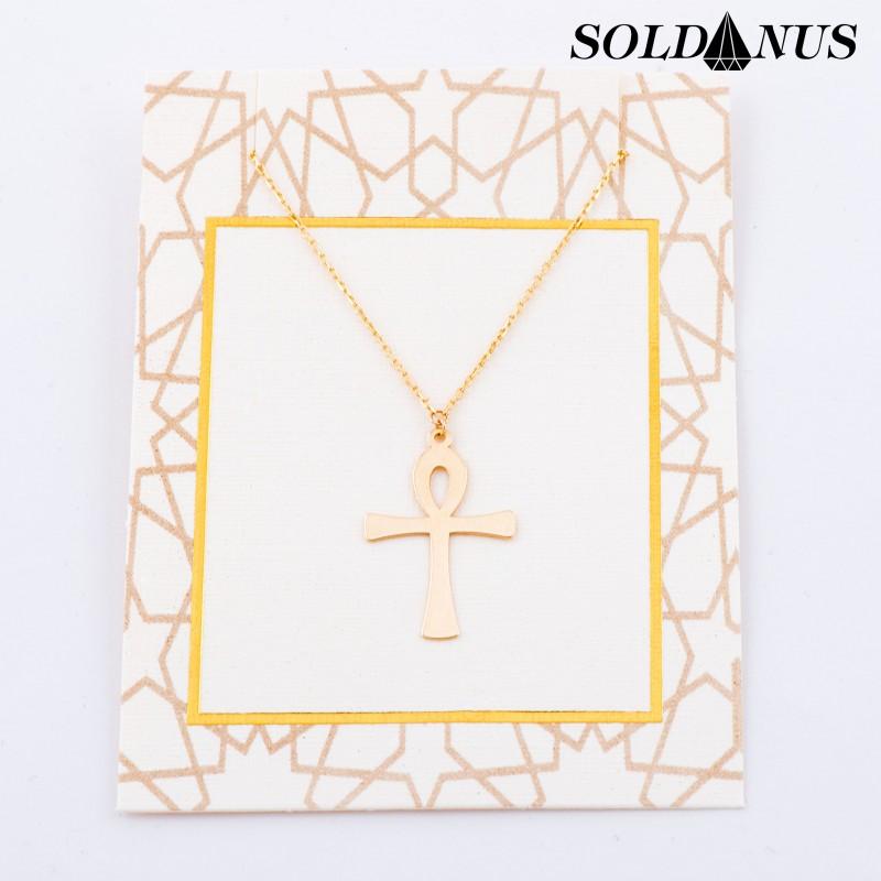 Zlatý prívesok krížik s retiazkou 45cm