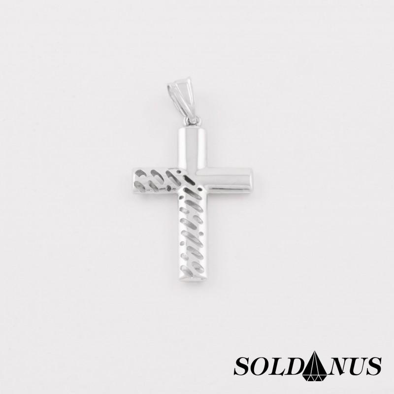 987a60873 Prívesok z bieleho zlata krížik