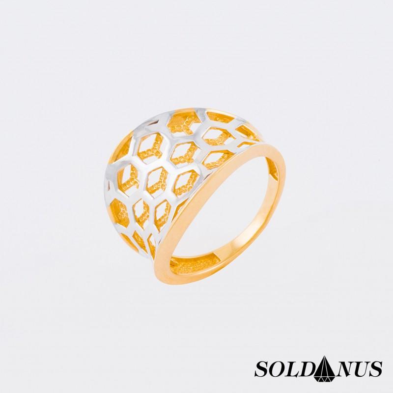 Zlatý prsteň dvojfarebný 57mm