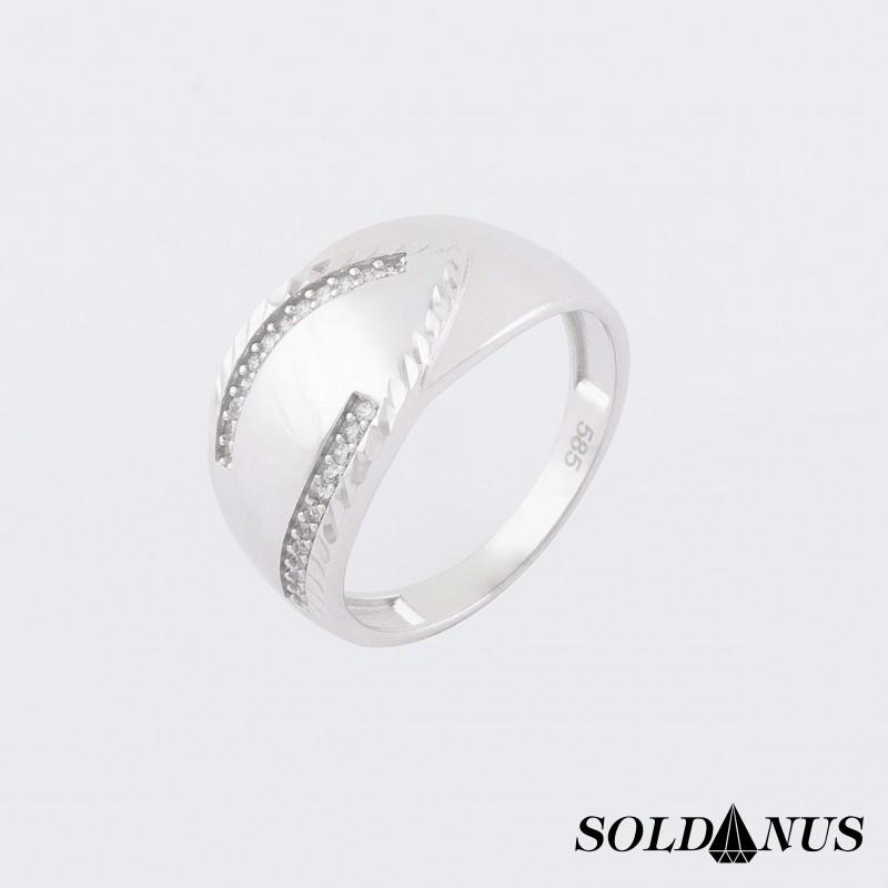Prsteň z bieleho zlata 56mm