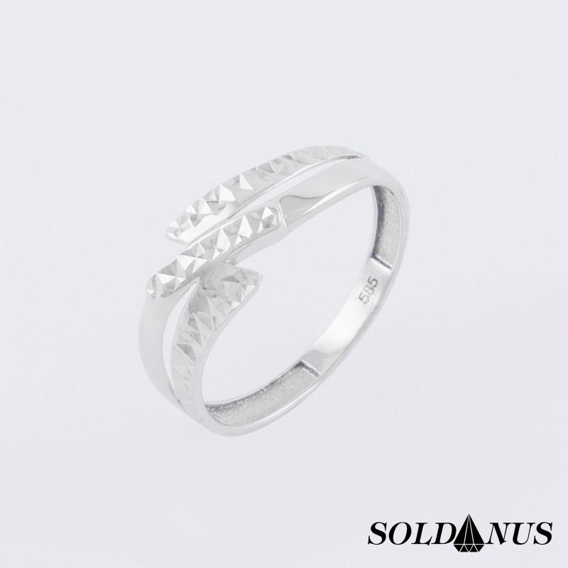 Prsteň z bieleho zlata 58mm