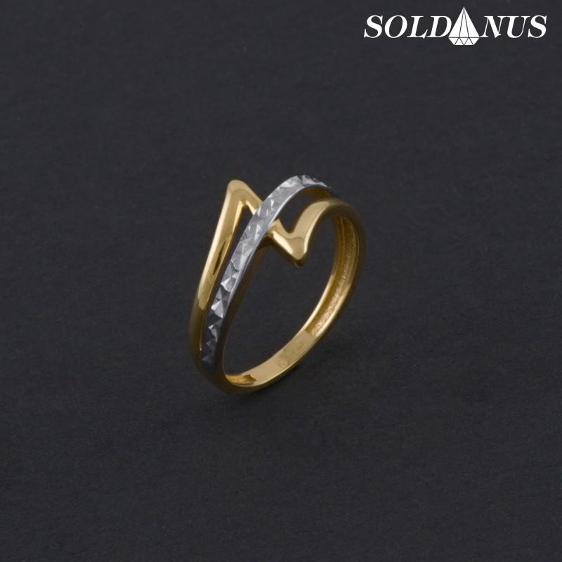 Zlatý prsteň dvojfarebný 53mm