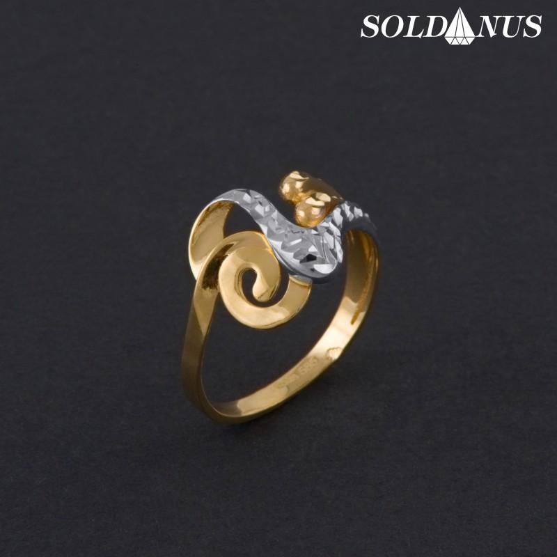 Zlatý prsteň dvojfarebný 58mm