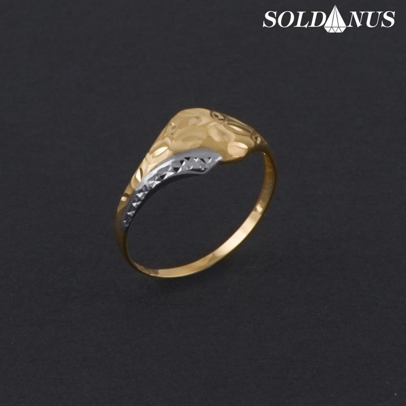 Zlatý prsteň dvojfarebný 70mm