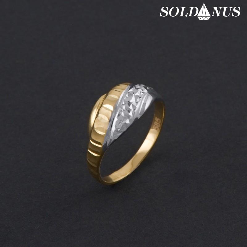 Zlatý prsteň dvojfarebný 56mm