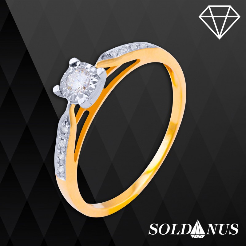Zlatý prsteň s briliantmi