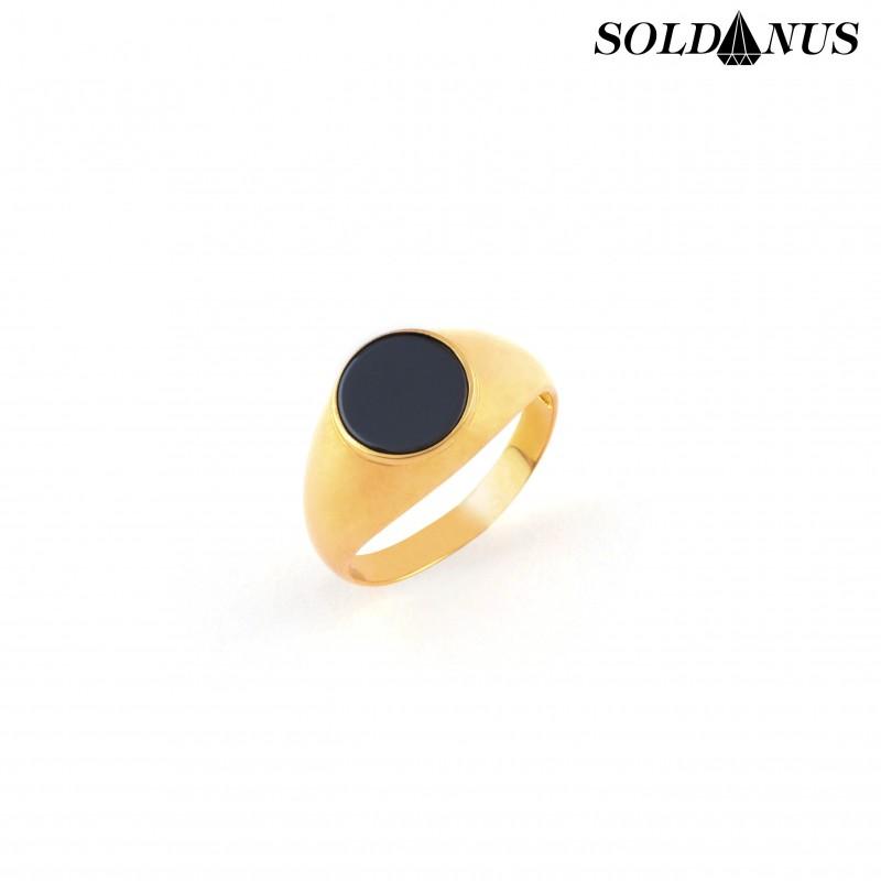 Zlatý pánsky prsteň s ónixok