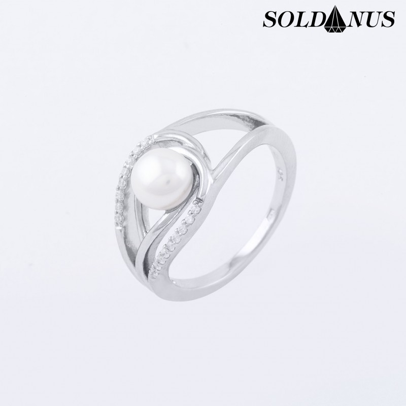 Strieborný prsteň s perlou 54mm