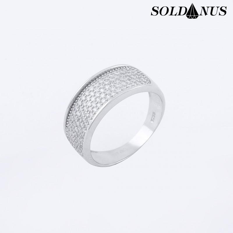 Strieborný prsteň 58mm