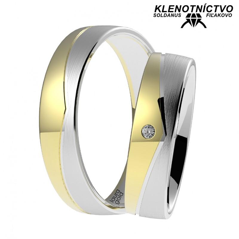 Svadobné obrúčky zlaté (gold ring) 1053