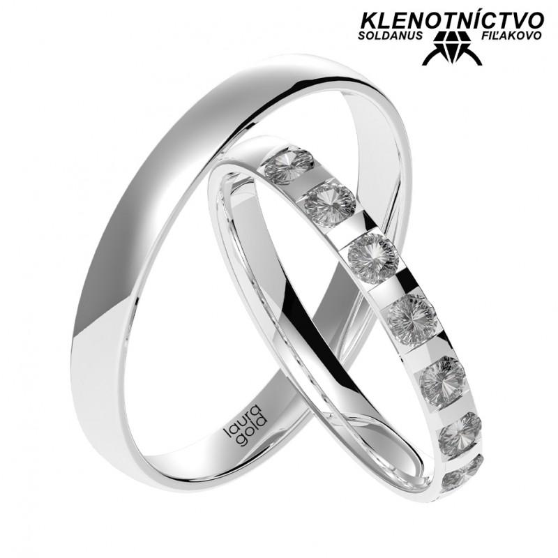 Svadobné obrúčky zlaté (gold ring) 1055