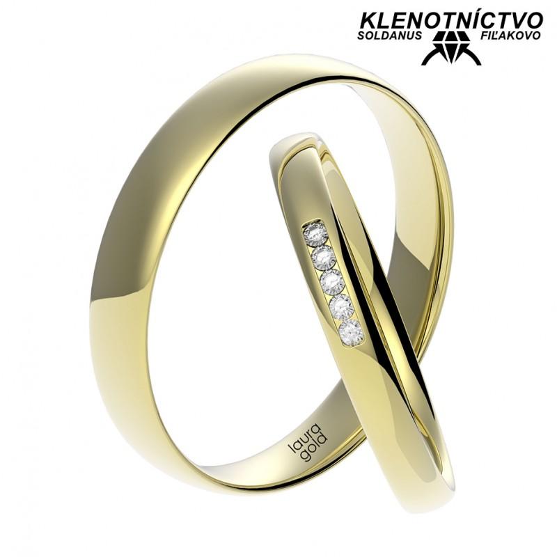Svadobné obrúčky zlaté (gold ring) 1056