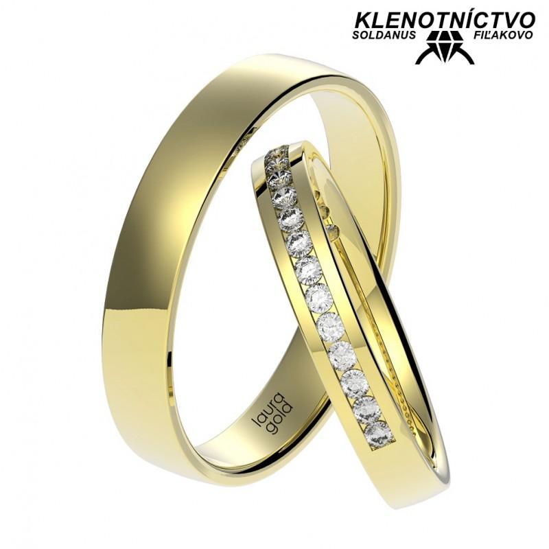 Svadobné obrúčky zlaté (gold ring) 1063