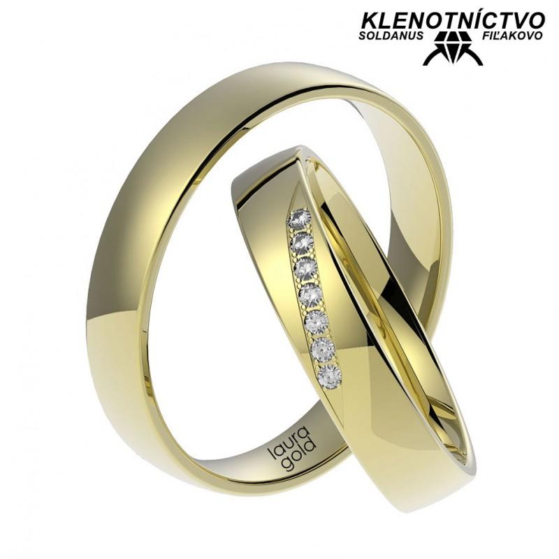 Svadobné obrúčky zlaté (gold ring) 1064