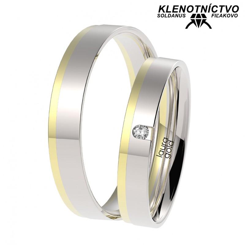 Svadobné obrúčky zlaté (gold ring) 1066