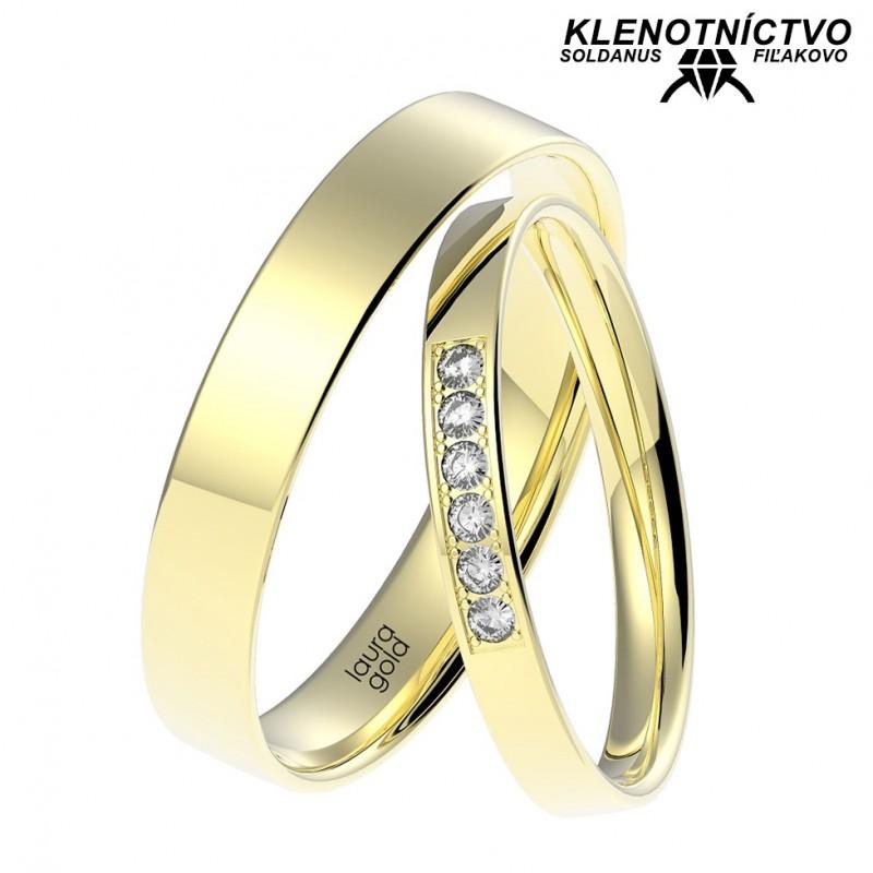 Svadobné obrúčky zlaté (gold ring) 1068