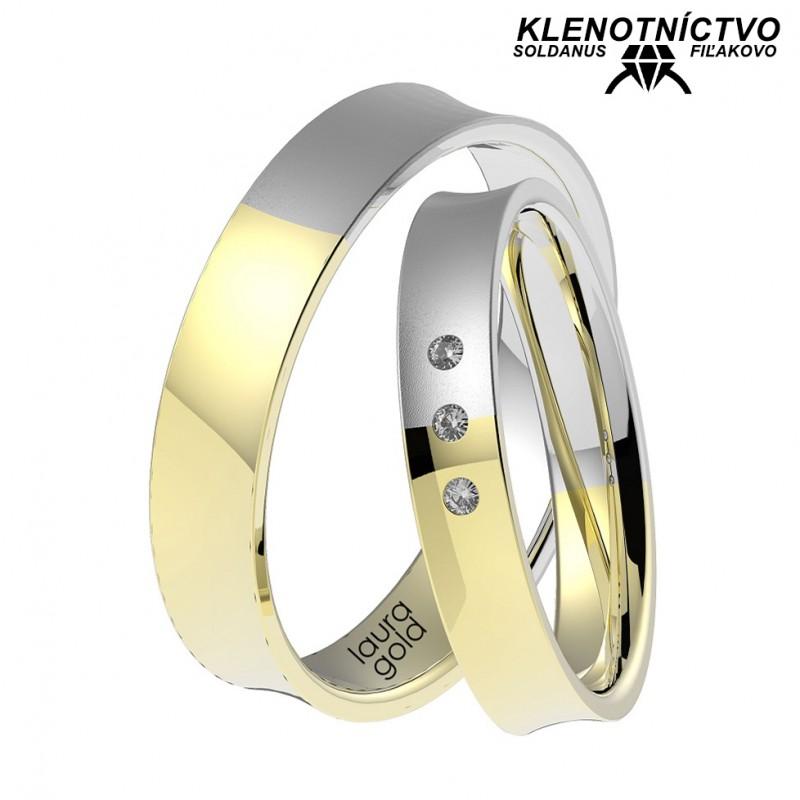 Svadobné obrúčky zlaté (gold ring) 1070