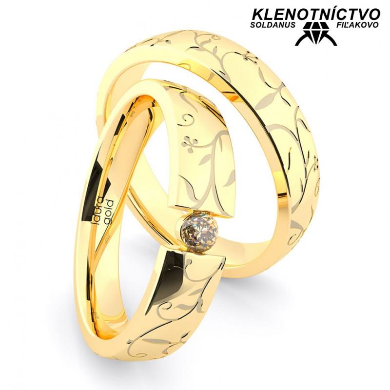 Svadobné obrúčky zlaté (gold ring) 1160